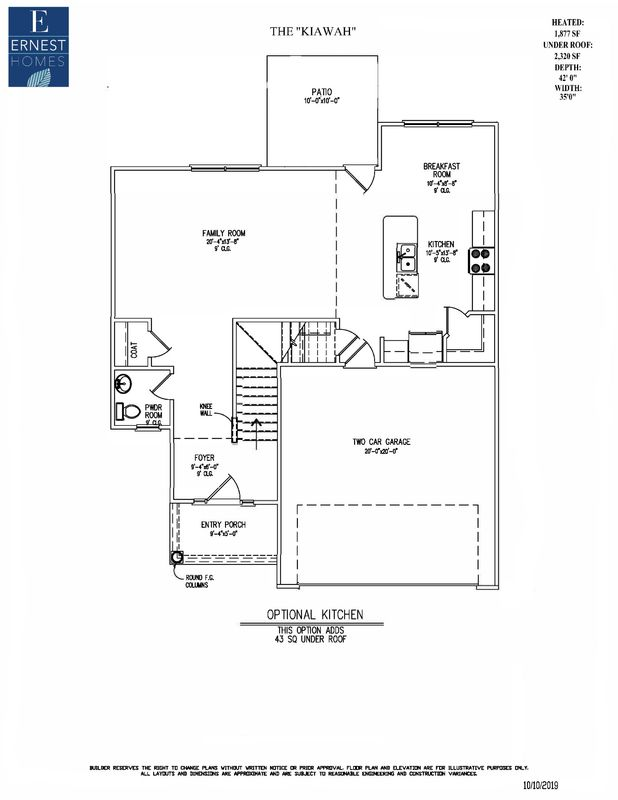1st floor optional kitchen