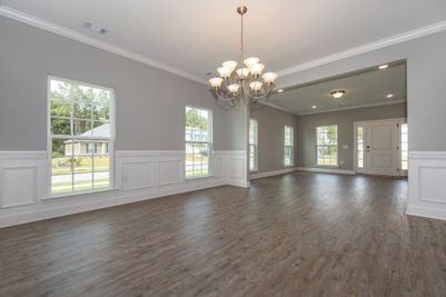 Dining room with optional wainscoting - Previously built home