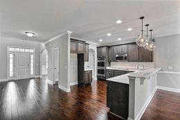 Kitchen with optional wood floors