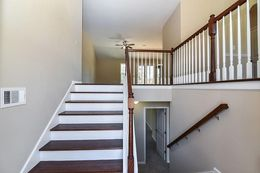 Foyer- Optional wood stairs and railing