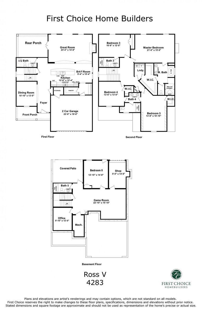 Ross V 4283 Marketing Floor Plan