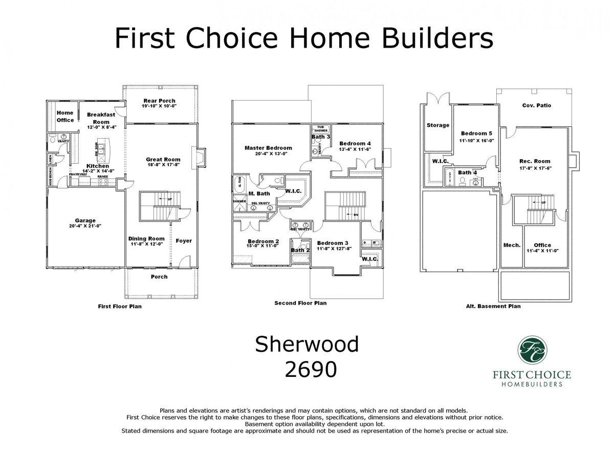 Sherwood 2690 Marketing Floor Plan
