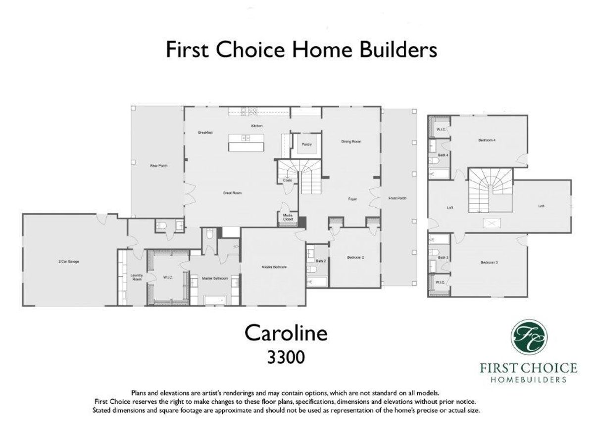 Caroline 3300 Marketing Floor Plan
