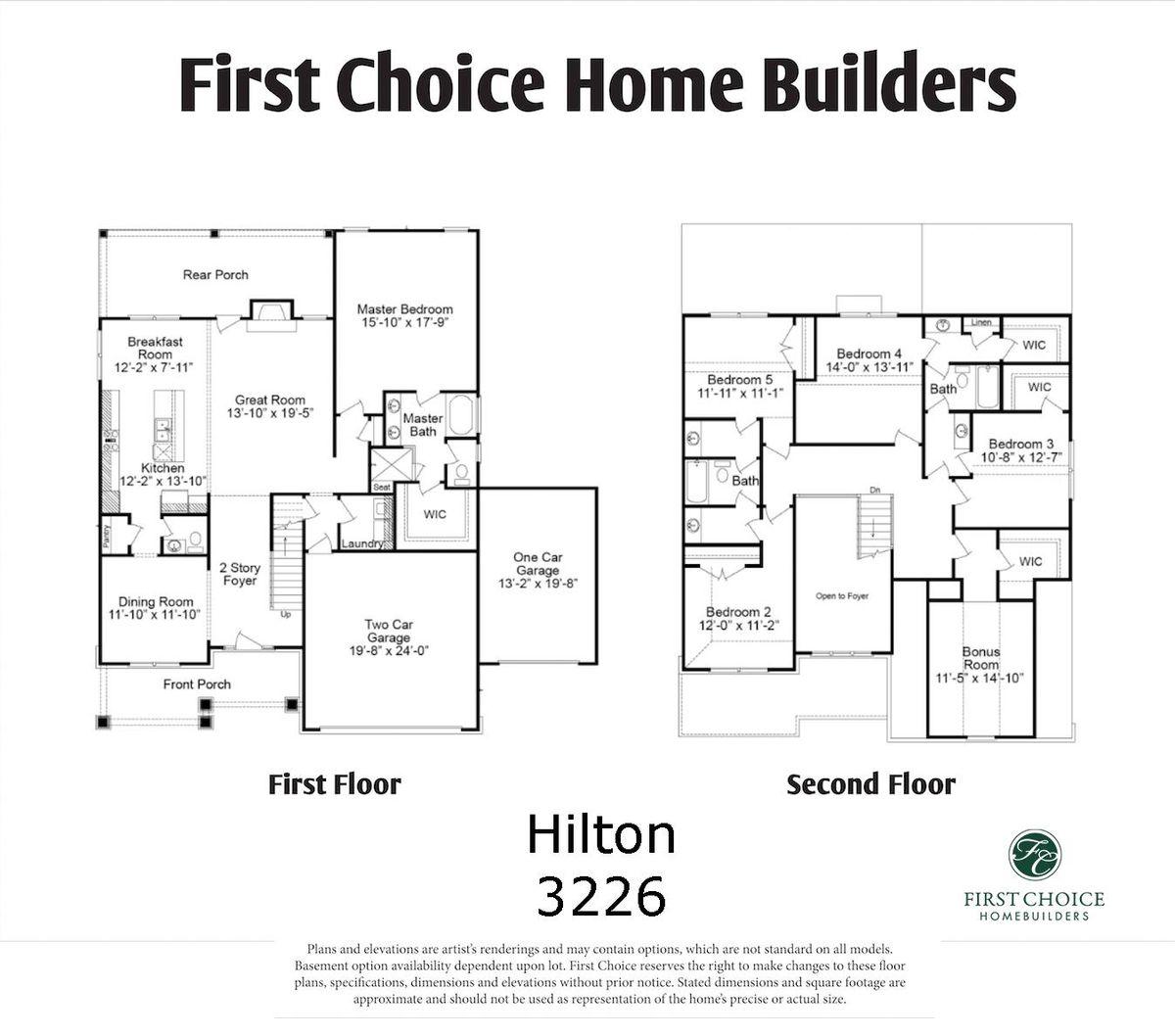 Hilton 3226 MArketing Floor Plan