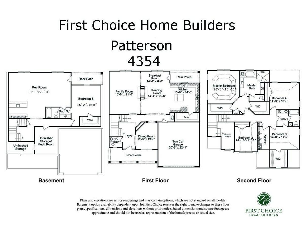 Patterson 4354 Marketing Floor Plan