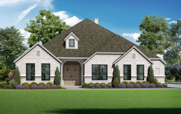 The Summerlin - Elevation A. Images are artist renderings and will differ from the actual home built.