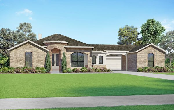 The Travis - Elevation T. Images are artist renderings and will differ from the actual home built.