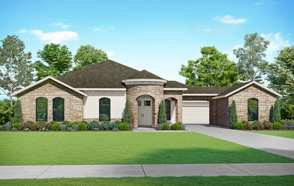 The Courtman - Elevation T. Images are artist renderings and will differ from the actual home built.