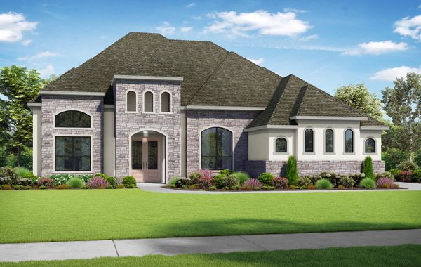 The Bayliss - Elevation T. Images are artist renderings and will differ from the actual home built.
