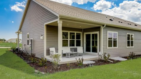 The Lillian, Rear Covered Porch - Halen Homes