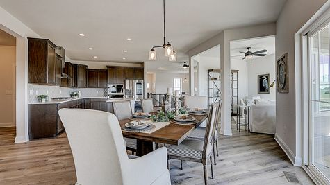 1398 Overlook Circle, Dinette/Kitchen/Sunroom - Halen Homes