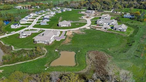 Aerial view of The Reserve at Wrenwood - Halen Homes