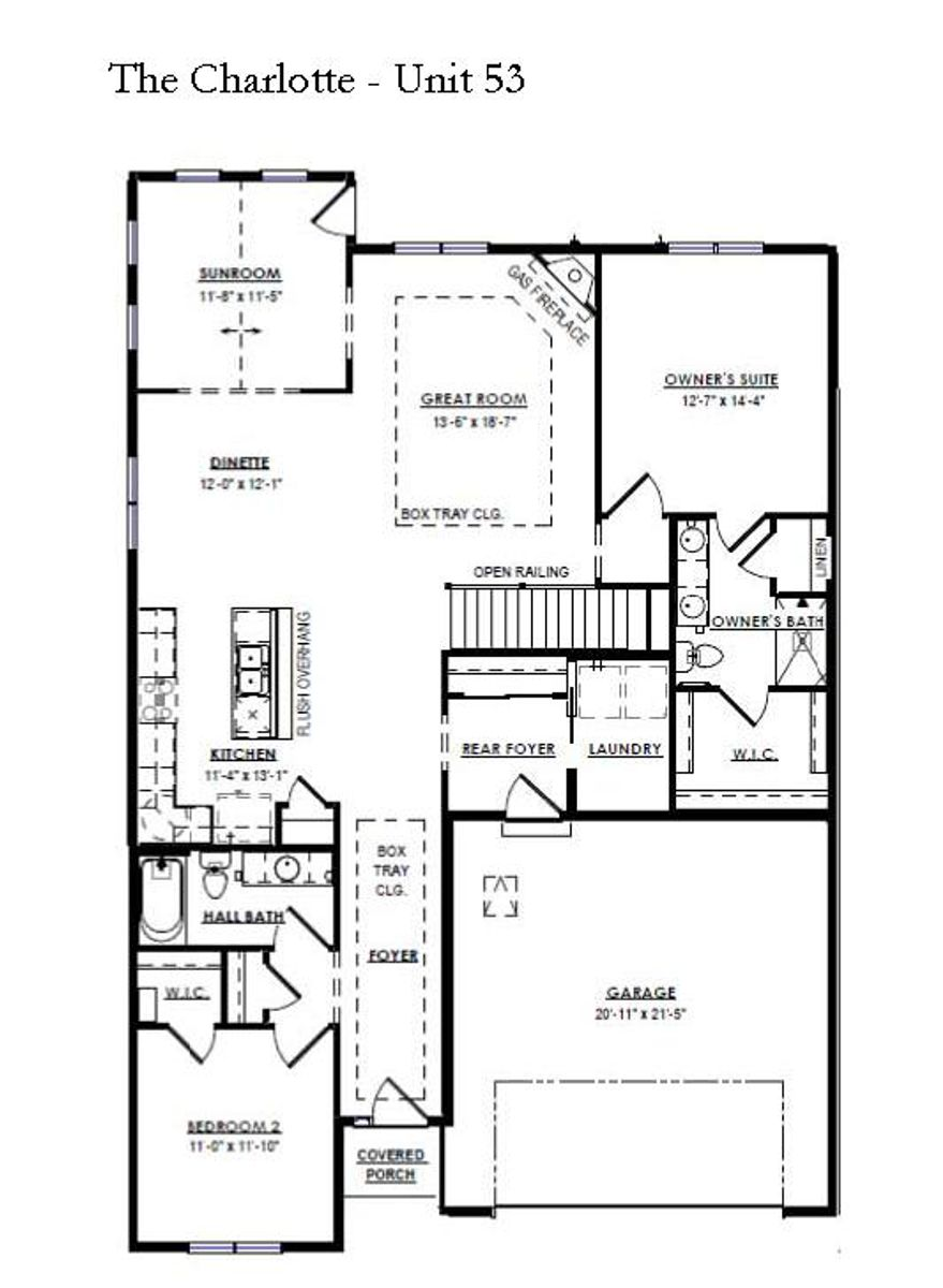 The Charlotte Floor Plan Unit 53