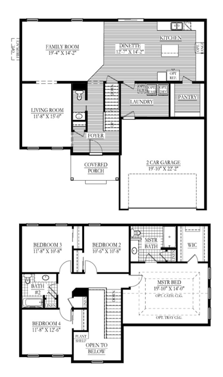 The Mendenhall floor plan - Halen Homes
