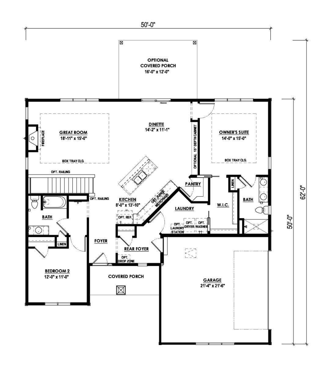 The Camden Floorplan - Halen Homes