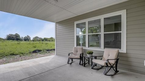818 Bridlewood Drive, covered porch