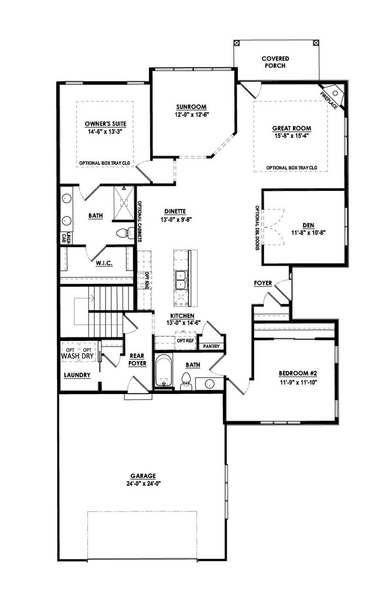 The Breckenridge Condominium Floor Plan - Halen Homes