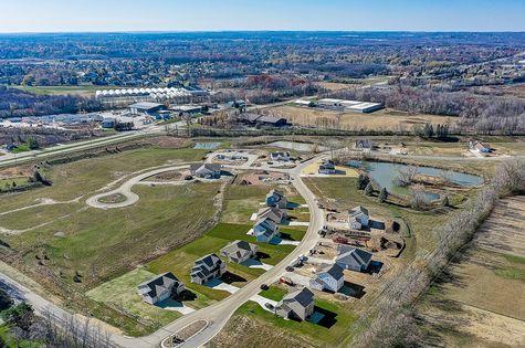 Aerial view of Wrenwood - Halen Homes