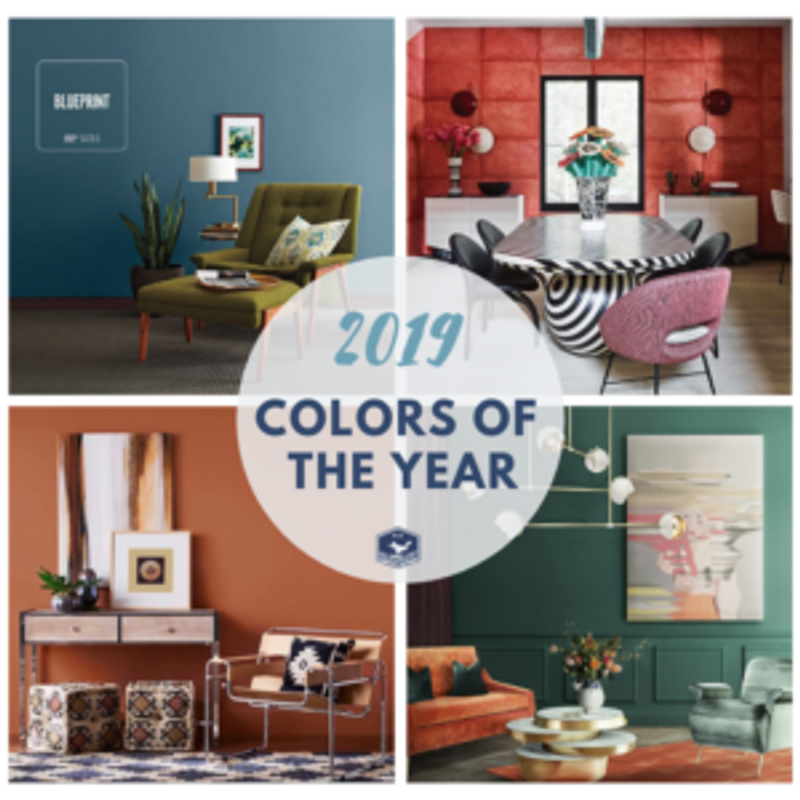 Incorporate 2019 Colors of the Year into Your Home