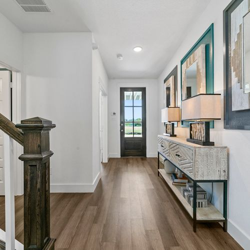 Landing at Providence model hallway | HistoryMaker Homes