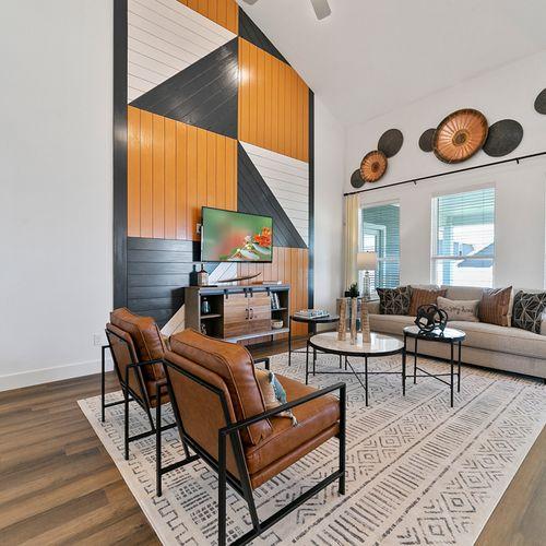 Landing at Providence model living area 2 | HistoryMaker Homes