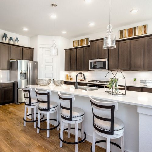 HistoryMaker Homes at Summer Lakes Model Kitchen Island