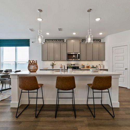 Landing at Providence model kitchen island | HistoryMaker Homes
