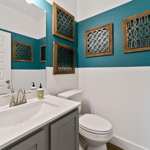 Landing at Providence model bathroom | HistoryMaker Homes