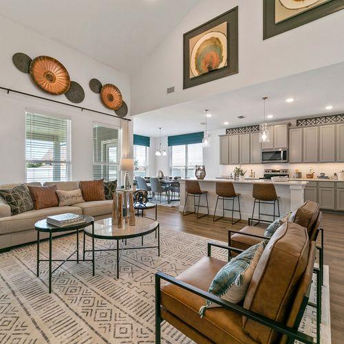 Landing at Providence model open floor plan | HistoryMaker Homes