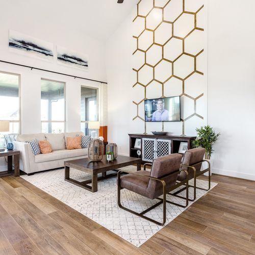 HistoryMaker Homes at Summer Lakes Model Living Room
