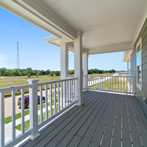 Landing at Providence balcony | HistoryMaker Homes