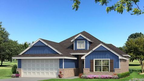 Homes by Taber A Siding Elevation - Royal Blue