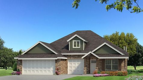 Homes by Taber Shiloh Brick Elevation - Green