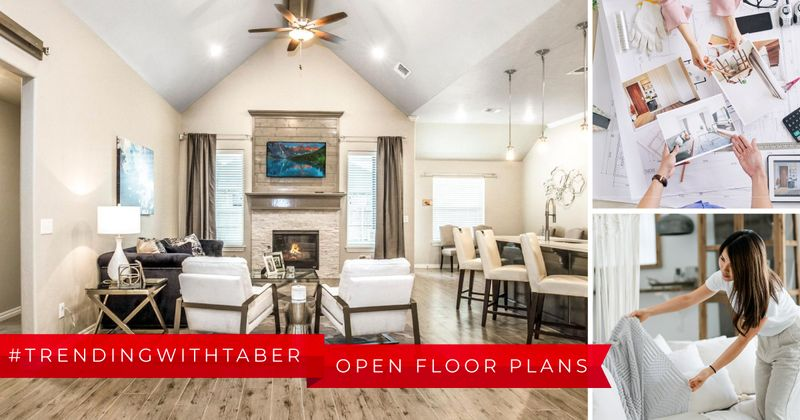 Open floor plan layout in a new home in OKC