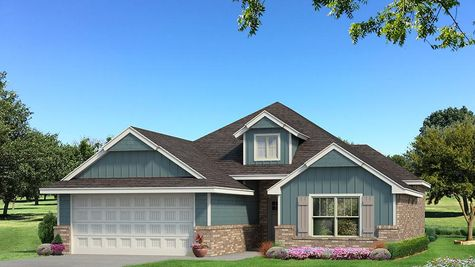 Homes by Taber A Siding Elevation - Aqua