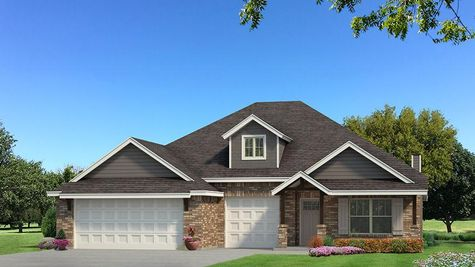 Homes by Taber Shiloh Brick Elevation - Shades of Grey