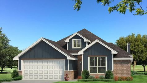 Homes by Taber Brinklee A2 Siding Elevation - Navy Blue