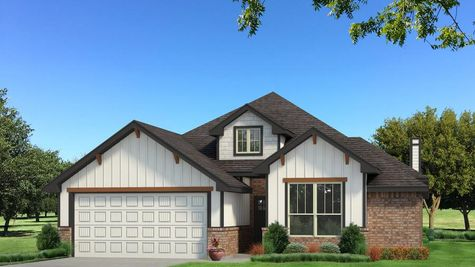 Homes by Taber Brinklee A2 Siding Elevation - Black and White