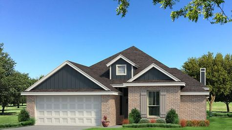 Homes by Taber A Brick Elevation - Navy Blue