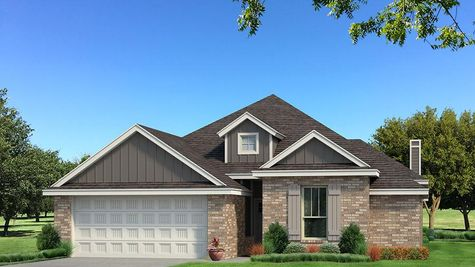 Homes by Taber A Brick Elevation - Shades of Grey