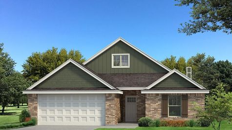 Homes by Taber Kamber A brick Elevation - Green