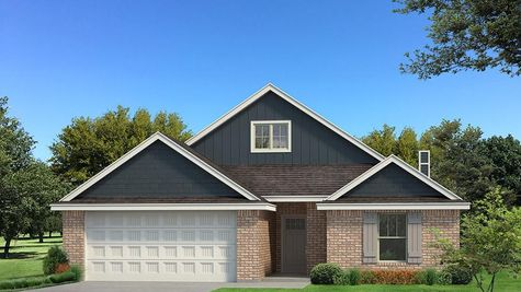 Homes by Taber Kamber A brick Elevation - Navy Blue