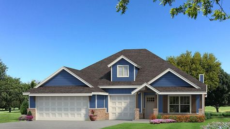 Homes by Taber Shiloh Siding Elevation - Royal Blue