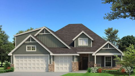 Homes by Taber Example of Blue Spruce Bonus Room 1 PLUS Floorplan with Siding