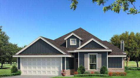Homes by Taber A Siding Elevation - Navy Blue