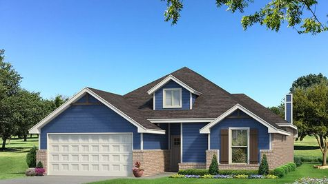 Homes by Taber Teagen Siding Elevation - Royal Blue