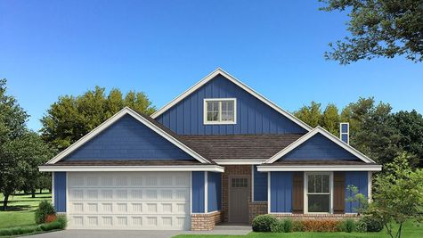 Homes by Taber Kamber A Siding Elevation - Royal Blue
