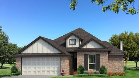 Homes by Taber A Brick Elevation - Black and White