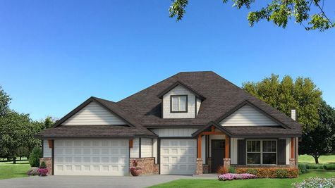 Homes by Taber Shiloh Siding Elevation - Black and White