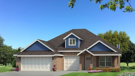 Homes by Taber Shiloh Brick Elevation - Royal Blue